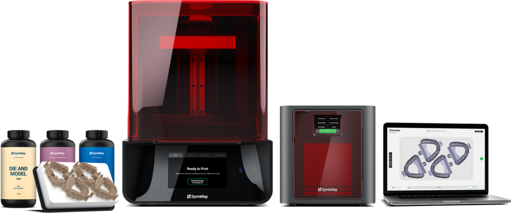 sprintray 3d dental printers & materials