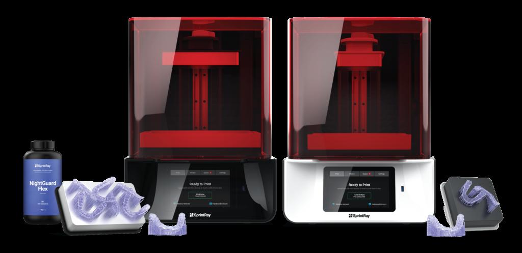 SprintRay pro 3D printer and NightGuard Flex